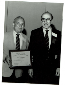 Dr. Paul Rosch with Dr. Michael DeBakey